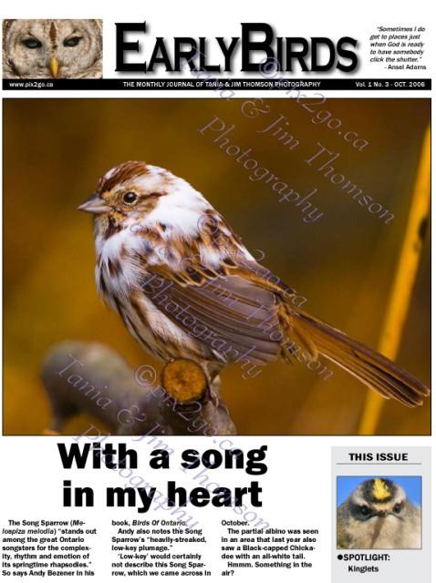 EARLYBIRDS Vol. 1, No. 3, Page 1 October, 2006