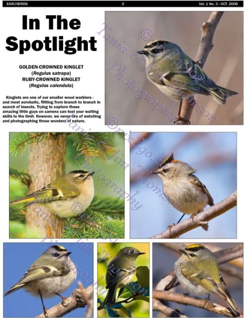 EARLYBIRDS Vol. 1, No. 3, Page 2 October, 2006