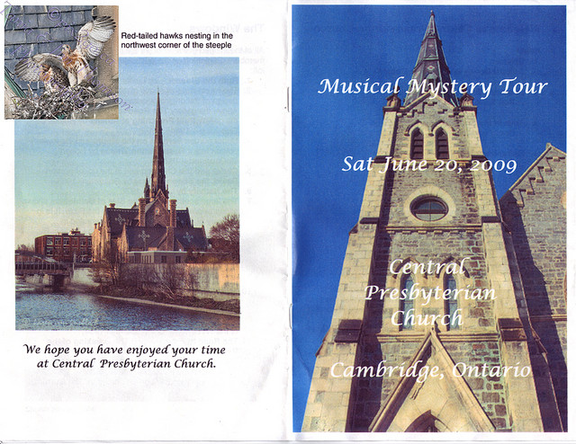 CENTRAL PRESBYTERIAN CHURCH OF GALT, Brochure June 20, 2009
